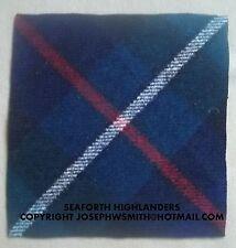 WW2 British Army Seaforth Highlanders, tartan arm patch for Battle Dress jacket