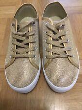 JOSH Plateau Sneaker Schuhe Gold glitzer Größe 37 - NEU