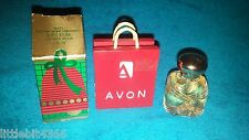 NEW! VINTAGE 1987 AVON SOFT MUSK YULETIDE WISHES ORNAMENT .5 OZ. COLOGNE SPLASH
