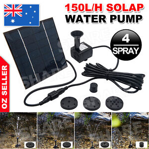 Solar Pond Pump Power Fountain Submersible Water Garden Pool Feature Kit Panel
