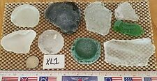 Genuine Surf Tumbled Sea Glass 9 LARGE Pieces  Puerto Rico XL1