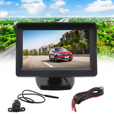 "Wired Reverse Camera + 4.3"" LCD Monitor Screen Car Rear View Backup Waterproof"