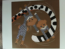 CHARLEY CHARLES HARPER Convivial Pursuit New Art print Cheetah cubs Big Cat kit