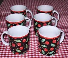 Set 6 Sakura Mary Engelbreit Cherries Mugs Well Taken Care Of