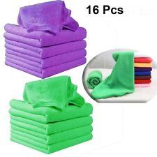 16pcs Large Microfibre Cleaning Auto Car Detailing Soft Cloths Wash Towel Duster