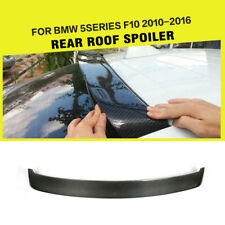 Rear Trunk Window Roof Spoiler Wing For BMW F10 525i 528i 535i M5 Carbon Fiber