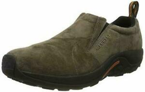 Mens 9 Merrell Jungle MOC Gunsmoke Slip on Shoes 60787 Brown suede