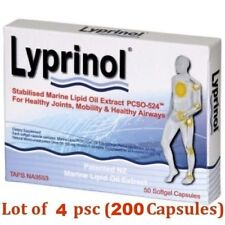 4 x Lyprinol New Zealand Green Lipped Mussel Extract - total 200 capsules!