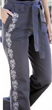 Simply Be Graphite Grey Light Cotton Trousers With Sequins Size 16 Long Cargos
