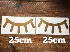 Unicorn Gold Sleepy eyelashes vinyl eye lashes decal walls Child nursery sticker