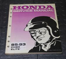 NOS OEM Honda Service Shop Manual NEW 85-93 CH80 ELITE CH 80