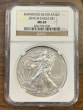 2015-W BURNISHED Silver American Eagle $1 * NGC MS69 * One Ounce