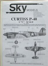 Skymodels 1/72 72058 Curtiss P-40 (Tomahawk, Warhawk, Kittyhawk) DECAL set