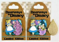 Disney Doorways Alice In Wonderland & Mad Hatter Tea Cups Hinged 3-D Pin LE 4000