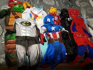 Boys Fancy Dress Up Bundle Marvel Masks Batman Spiderman Darth Vader age 5 to 6