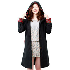 Cute Women Raincoat Long Sleeve Waterproof Poncho Fashion Girls Black Raincoats
