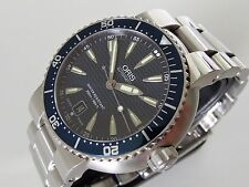 SUPERB! 2013 Oris TT1 Divers Date Automatic Watch 7533P Box, Papers, Spare Links