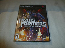 SEALED BRAND NEW PLAYSTATION 2 PS2 GAME TRANSFORMERS REVENGE OF THE FALLEN NFS