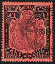 Bermuda 1938 SG121 £1 Purple and Black P 14 Superb St Georges CDS.