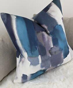 "18x18"" Cushion Pillow Cover John Lewis & Partners Fabric Peacock Abstract LIVIA"