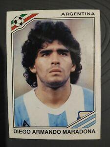 DIEGO ARMANDO MARADONA 1986 FIGURINA PANINI ORIGINALE MEXICO 86 #84 RARITA'