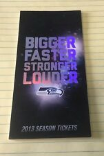 2013 Seattle Seahawks Season Ticket Stubs Untorn Booklet; Championship Season
