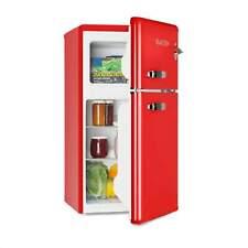 Retro Kühl- Gefrierkombination Kühlschrank Tiefkühler 85L Gefrierfach F rot