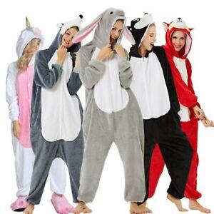 Unisex Adult Kigurumi Animal Cosplay Costume Pajamas Onesie17 Sleepwear Outfit I