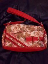 Floreale Rosso Bianco staccabile tracolla regolabile 25x15x9cm MANIGLIA Grab Bag