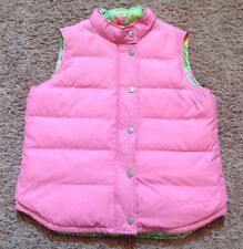 LILLY PULITZER DOWN PUFFER VEST, PINK GIRLS SIZE 14 EUC!!