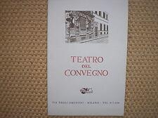 PROGRAMA TEATRO DE CONFERENCIA MILANO CARDENAL ESPAÑA 1961 RENZO RICCI