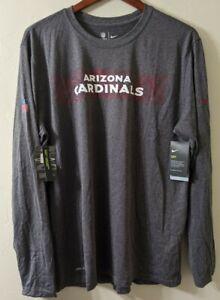 Arizona Cardinals Nike Team On Field DRI-FIT Long Sleeve Shirt XL Gray NWT NFL
