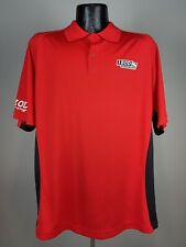 Men's Izod Indy Car Series PerformX Red Polyester Short-Sleeve Polo XL NWOT