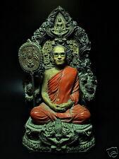 SCULPTURE CLASSIC BUDDHA KING BHUMIBOL OF THAILAND TONSURE BUDDHIST MONK FIGURE