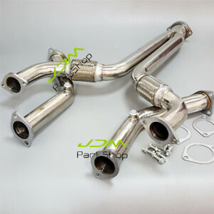 Exhaust Y PIPE + Exhaust Decat Pipe For 03-07 Nissan 350Z Infiniti G35 V35 VQ35D