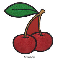 Cherry Disney Fruit Embroidered Patch Iron on Sew On Badge For Clothes Bags etc