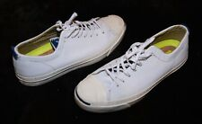 LN! Converse Jack Purcell white leather sneakers shoes Men's 8 Women's 9.5