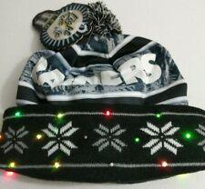 Oakland Raiders LED Light Up Winter Hat Pom Beanie Ski Stocking Knit Cap NFL New