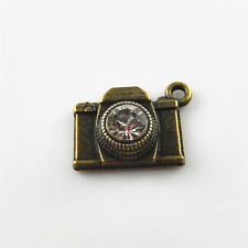 20pcs Vintage Bronze Alloy Crystal Camera Pendants Charms Jewelry Making 31012