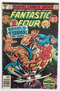 Fantastic Four #211 - 1st App Terrax - Marvel Comics