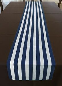 lovemyfabric Cotton 1 Inch Striped Print Table Runner For Party, Home Decor