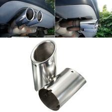 2x Polished Silver Stainless Car Tail Exhaust Tip Pipe For BMW E90 E92 325i 328i