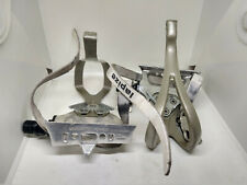 Vintage Shimano PD-A550 pedals with Lapize white straps
