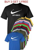 Nike Slogan t-shirt,Just Hook It ADULT funny T-shirt,Meme Swoosh Sports Men's
