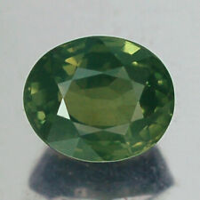 2.02CT CERTIFIED VVS UNHEATED OVAL YELLOW GREEN SAPPHIRE NATURAL