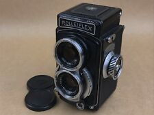 Rolleiflex 4x4 Black 1963 Post War Baby Rollei TLR w/ Xenar 60mm 3.5 Lens