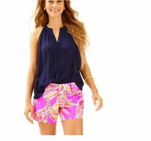 Lilly Pulitzer NEW Womens Size 2 CALLAHAN Sunseekers Amethyst Classic Shorts