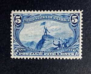 US Stamps, Scott #288 1898 5c Trans-Miss Expo 2020 PSAG GC XF 90. Orig Gum M/NH