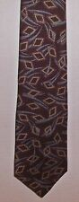 Windsor Tie Shop Brown Modern 100% All Silk Hand Fashioned in Italy
