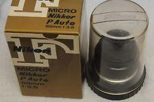 EXC++ NIKON NIKKOR MICRO-P 55mm F3.5 NON-AI BOXED w/CASE, CAP
